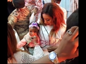 Video: Bukola Adeeyo Brought Her Cute Baby To Mercy Aigbe